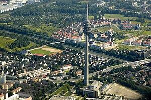 Fernmeldeturm Nürnberg - Aerial photo of the Fernmeldeturm Nürnberg
