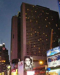 New York Marriott Marquis hotel in New York City, United States