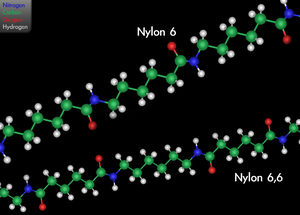 English: 3D diagram showing the variants nylon...