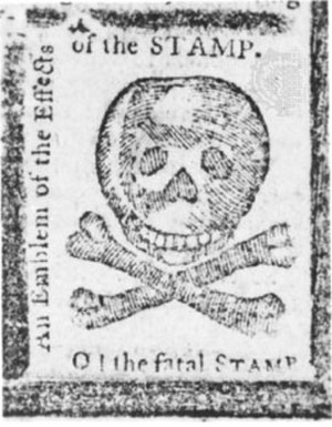 Stamp Act 1765 - American newspapers reacted to the Stamp Act with anger and predictions of the demise of journalism.