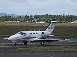 OE-FDT Cessna Citation Mustang 510 GlobeAir (35182349264).jpg