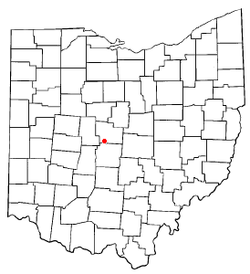 Location of Powell in Ohio