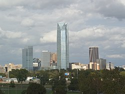 Oklahoma City Downtown Skyline as seen from the Wheeler Ferris Wheel