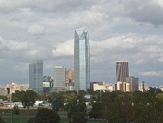 Downtown Oklahoma City - Oklahoma City Downtown Skyline as seen from the Wheeler Ferris Wheel