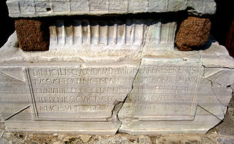 Obelisk of Theodosius - Latin inscription (east face)