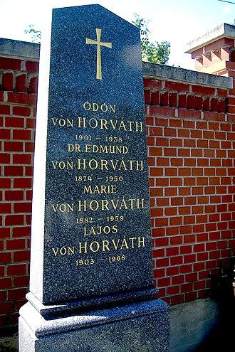 Ödön von Horváth - Ödön von Horváth's family tombstone in Vienna