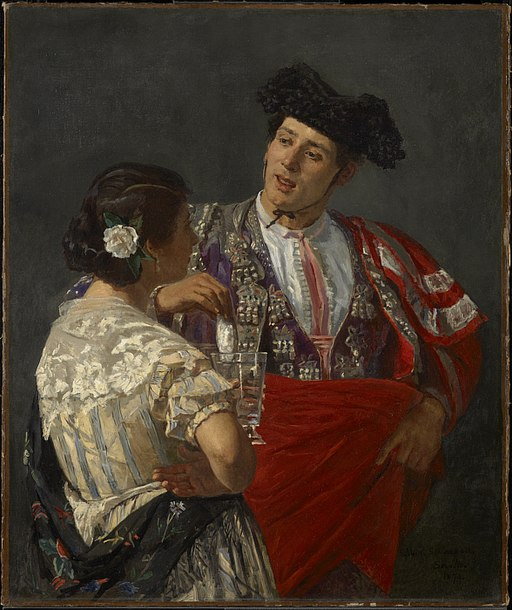 """Offering the Panel to the Bullfighter"" by Mary Cassatt"