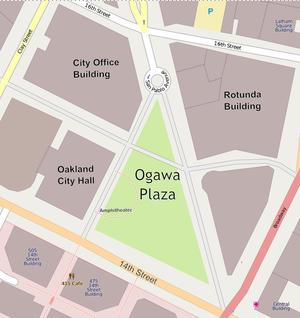 Frank H. Ogawa Plaza - Ogawa plaza