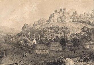 Ogrodzieniec - Ogrodzieniec castle (19th century, Napoleon Orda)