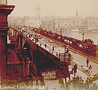 New London Bridge in the early 1890s