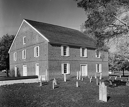 Barratt's Chapel, built in 1780, is the oldest Methodist Church in the United States built for that purpose. The church was a meeting place of Asbury and Coke. Old Barratt's Chapel (Methodist), Route 113, Frederica vicinity (Kent County, Delaware).jpg