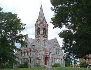 University of Massachusetts Amherst - Old Chapel constructed in 1884 at the campus