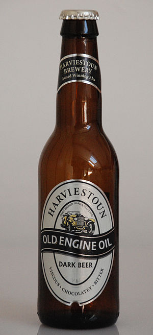 Alva, Clackmannanshire - A bottle of Old Engine Oil