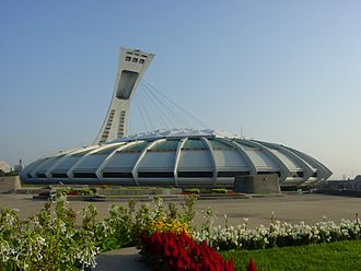 Landmarks of Montreal - The Olympic Stadium, in the city's eastern section.