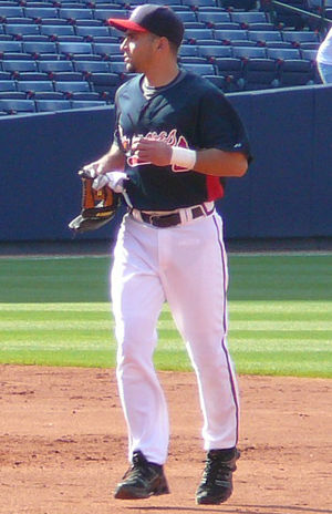Omar Infante - Infante during his stint with the Atlanta Braves in 2008