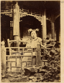 One of the Wives of Notable Man Mr. Yan Seated in Their Private Home Garden. Beijing, 1874 WDL1937.png