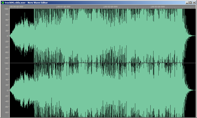 English: Screenshot of WAV file ripped from 20...