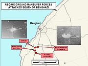 Operation Odyssey Dawn in Libya - Regime Forces attacked south of Benghazi