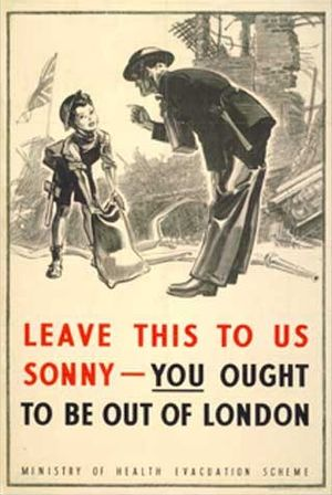 English: Poster used by the British government...