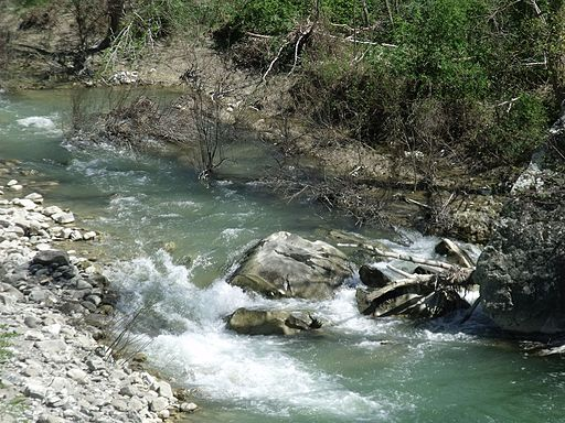 The Orcia River in Monte Amiata Scalo