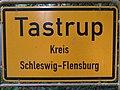 Ortsschild von Tastrup, 2014, Bild 03.jpg