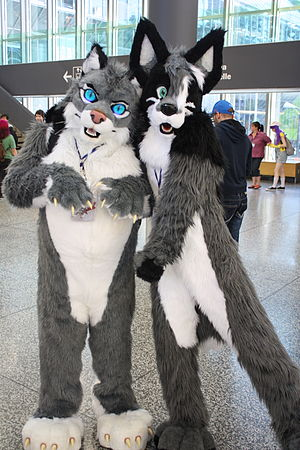 Furry fandom - Some furry fans create and wear costumes of their characters.
