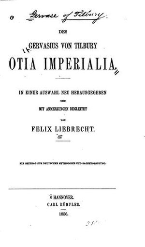 Otia Imperialia - Title page of 1856 edition