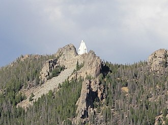 Our Lady of the Rockies - The statue atop a mountain