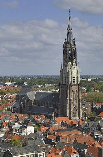 Nieuwe Kerk (Delft) - The Nieuwe Kerk seen from the Oude Kerk
