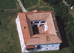 Aerial photograph of Ozora Castle