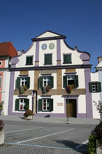 Municipality (Austria) - Town hall of Pöllau, Styria, population ca. 2000
