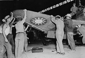 Republic P-43 Lancer - Maintenance on a P-43A in China, circa 1943.