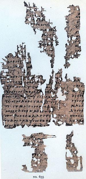 Papyrus Oxyrhynchus 655 - P. Oxy. 655