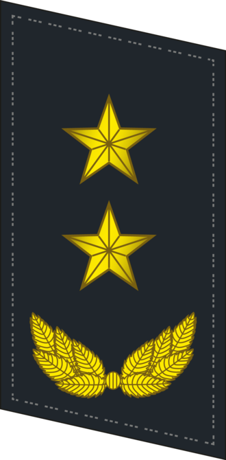 Ranks of the People's Liberation Army Navy - Image: PLANF Collar 0719 LTG