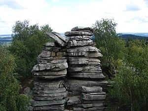Javořice Highlands (Moravia) - Image: PP Míchova skála (1)