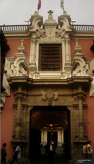 Ministry of Foreign Affairs (Peru) - Image: Palacio Torre Tagle