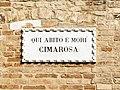 Palazzo Duodo (Venice) Plaque pour Cimarosa.jpg