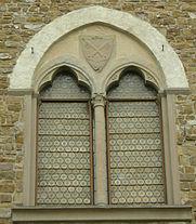 palazzo dei vescovi a san miniato al monte finestra