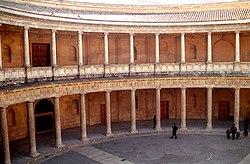 El Palacio de Carlos V, en la Alhambra de Granada