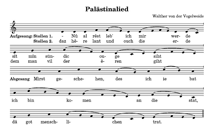 The melody of the Palastinalied from the Munster Fragment Palestinalied.jpg