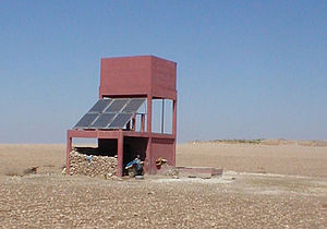 Solar power in Morocco - Solar powered well in Rhamna, near Marrakech