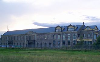 Carnoustie - James Smieton's Panmure Works, built 1857. Now housing D.J. Laing