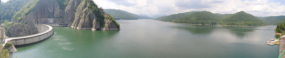 Panorama of the Vidraru Lake and Dam