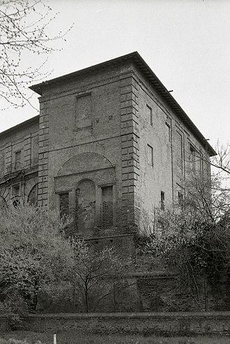 Giovanni Pico della Mirandola - Castle of Mirandola in 1976