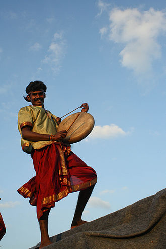 Parai Attam - A traditional parai atttam performer