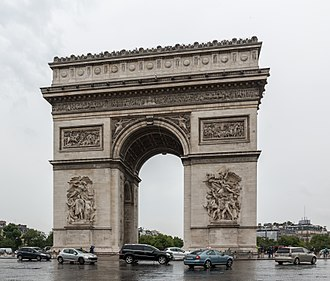 Arc de Triomphe - The Arc de Triomphe in western Paris