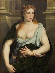 Bildnis einer Frau im grünen Mantel