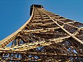 Paris Eiffel Tower second floor view upwards 20040104.jpg