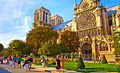 Paris and a view of Notre Dame from the southern side, 2010.jpg