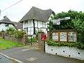 Parish noticeboard, postbox and road sign - geograph.org.uk - 921650.jpg